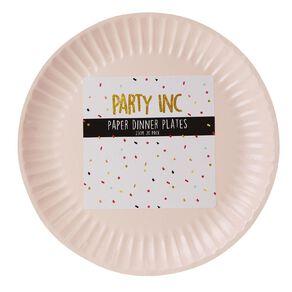 Party Inc Paper Plates Pastel Pink 23cm 20 Pack