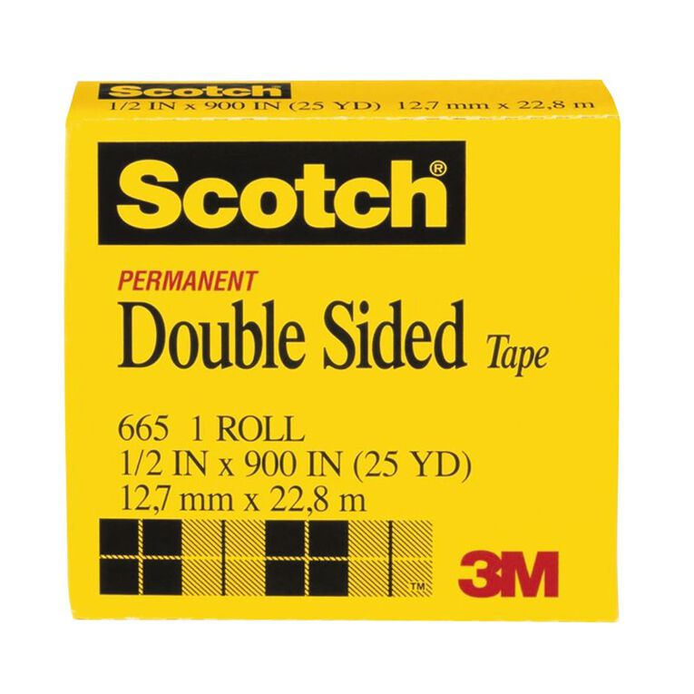 Scotch Double Sided Tape Refill 12.7mm x 22.8m Clear, , hi-res