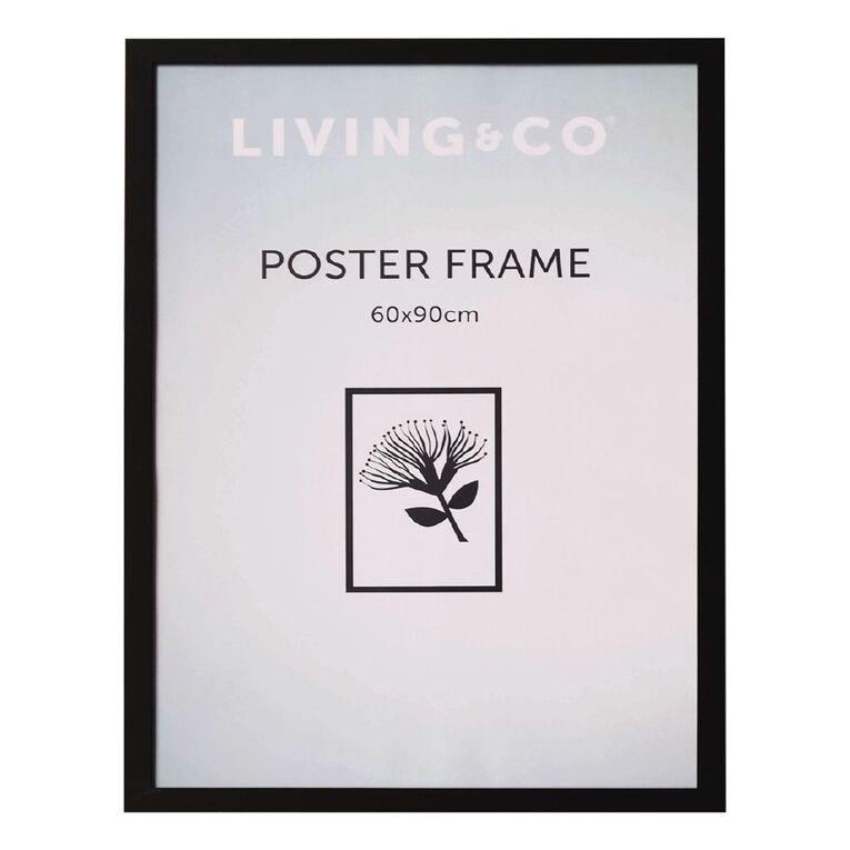 Living & Co Value Poster Frame Black 60cm x 90cm, Black, hi-res