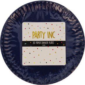 Party Inc Paper Dinner Plates 23cm Royal Blue 20 Pack