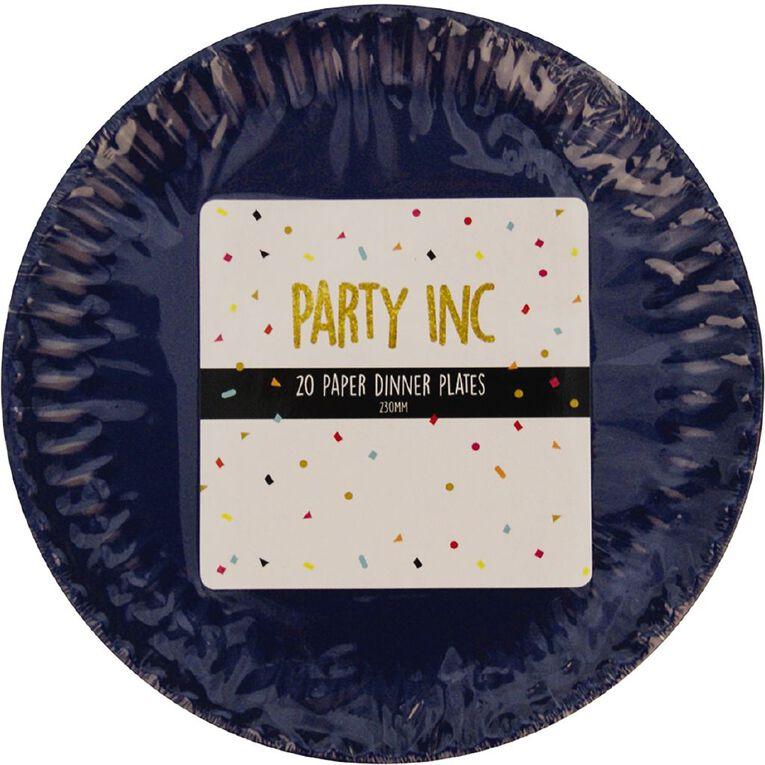 Party Inc Paper Dinner Plates 23cm Royal Blue 20 Pack, , hi-res image number null