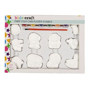Kookie Paint Your Own Plaster Animals 10 Pack