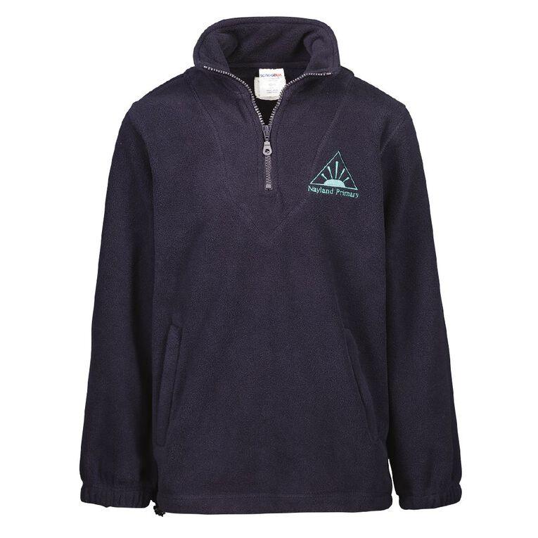 Schooltex Nayland Polar Fleece Top with Embroidery, Navy, hi-res
