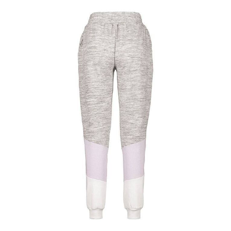 H&H Women's Panelled Trackpants, Grey Marle, hi-res
