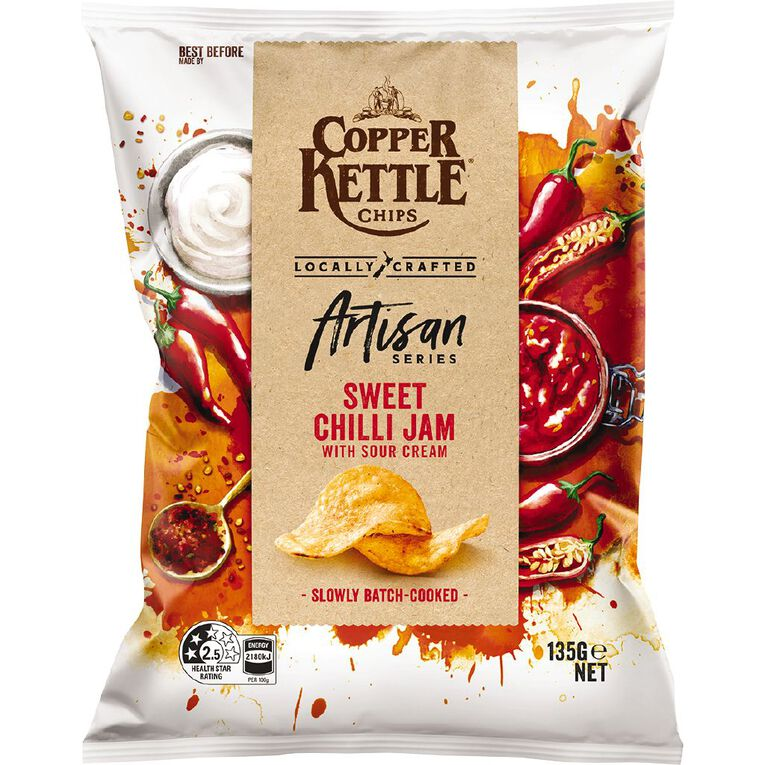 Copper Kettle Artisan Sweet Chilli Jam with Sour Cream 135g, , hi-res