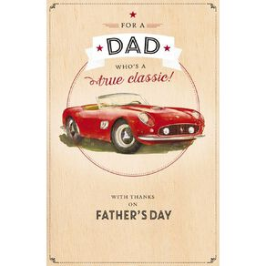 John Sands Father's Day Card Dad Red Sports Car