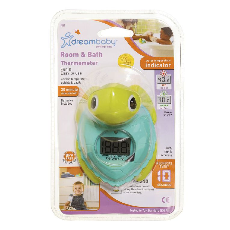 Dreambaby Room and Bath Turtle Thermometer, , hi-res