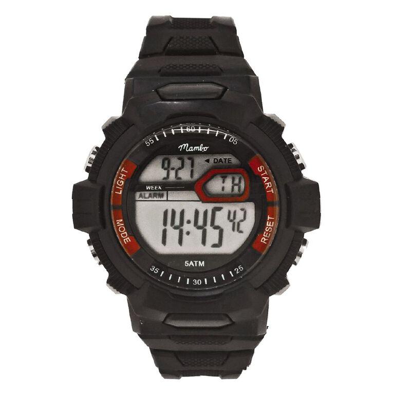 Mambo Kid's Digital Sports Watch Black, , hi-res