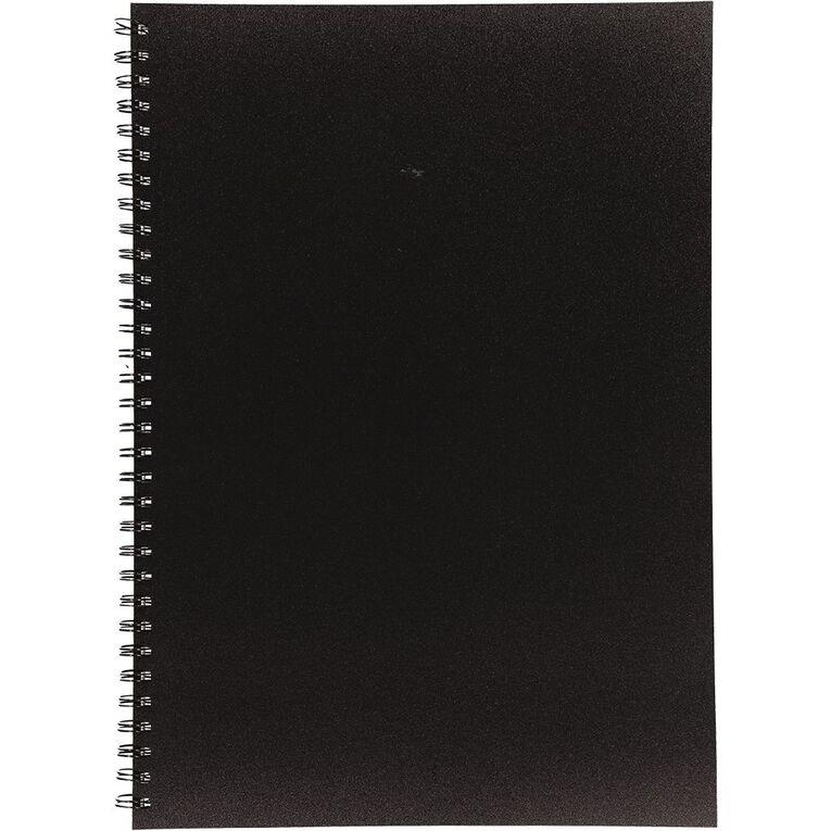 Uniti Visual Diary Spiral 110gsm 60 Sheet Black A3, , hi-res