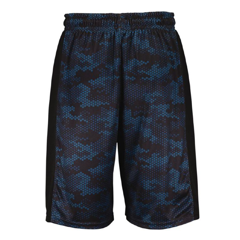Active Intent Men's Printed Basketball Shorts, Blue Dark, hi-res