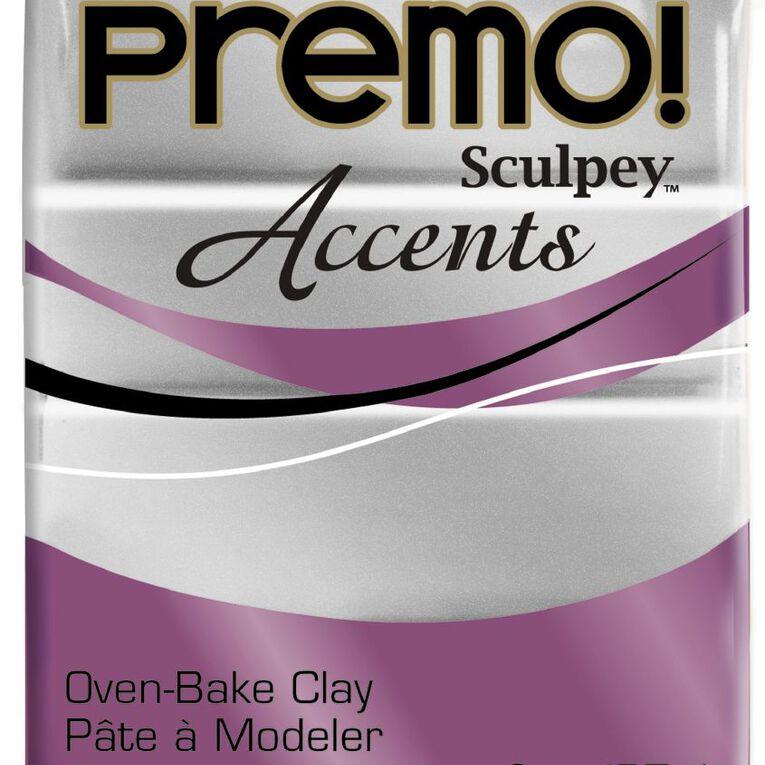 Sculpey Premo Accent Clay 57g Silver, , hi-res