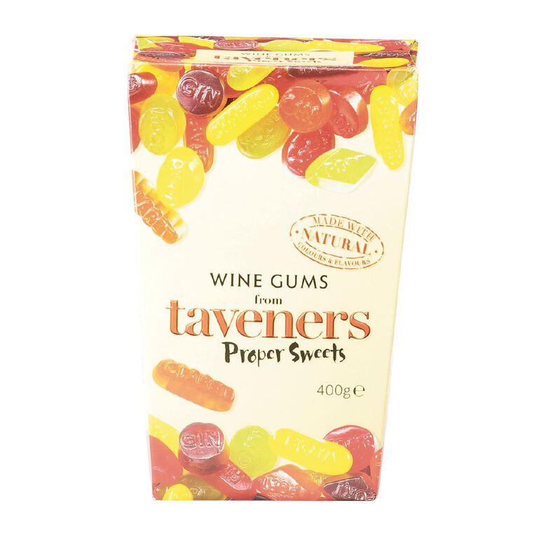 Taveners Wine Gums Box 400g, , hi-res