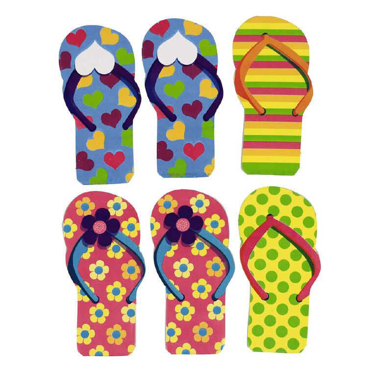 Party Inc Party Favours Jandal Notebooks 6 Pack, , hi-res