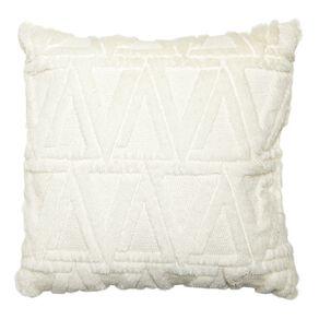 Living & Co Carved Fleece Cushion Optic 40cm x 40cm