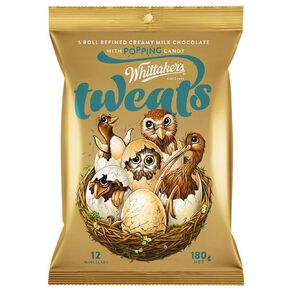 Whittaker's Tweats Popping Candy Mini Slab 12 Pack 180g