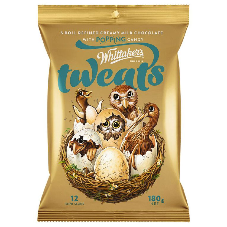 Whittaker's Tweats Popping Candy Mini Slab 12 Pack 180g, , hi-res