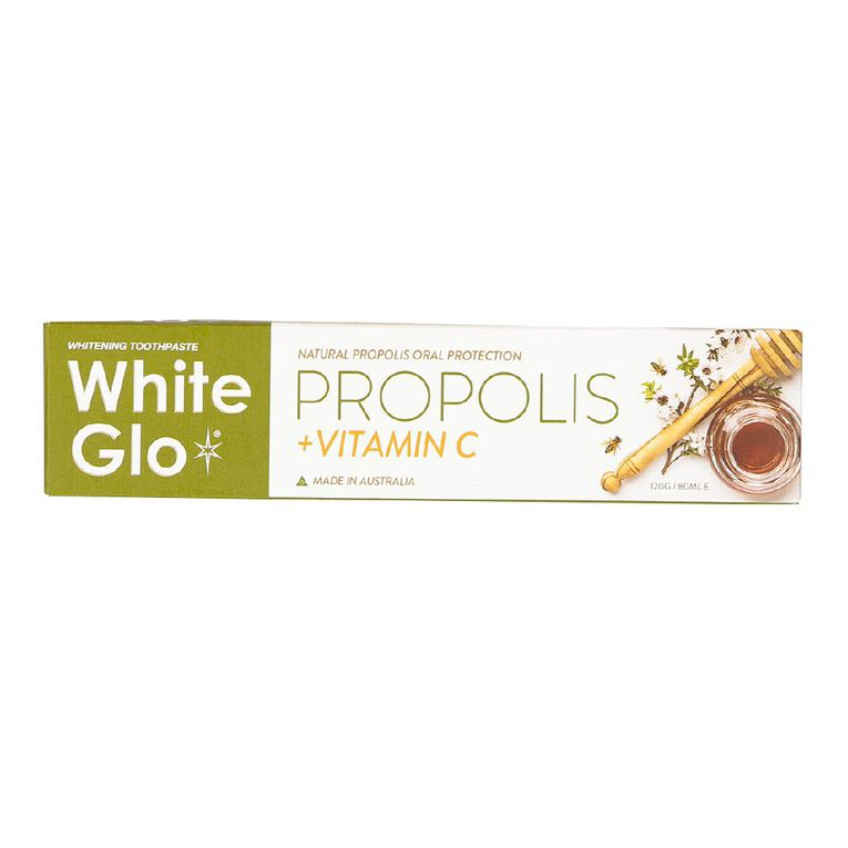 White Glo Propolis plus Vitamin C Toothpaste 120g, , hi-res