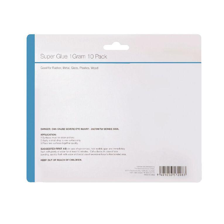 Home Essentials Super Glue 1g each 10 Pack, , hi-res