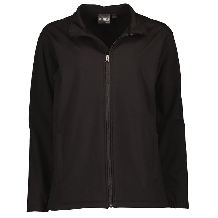 Schooltex Adult's 3K Softshell Jacket, Black, hi-res