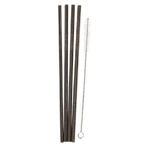 Living & Co Stainless Steel Straw Set Slim Straight