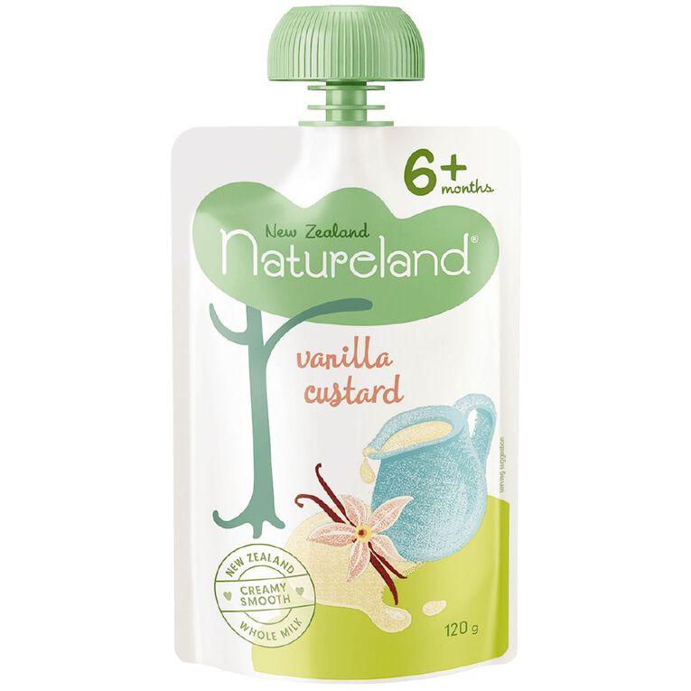 Natureland Vanilla Custard Pouch 120g, , hi-res