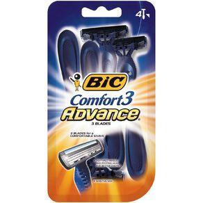Bic Comfort 3 Advance Disposable Razor 4 Pack