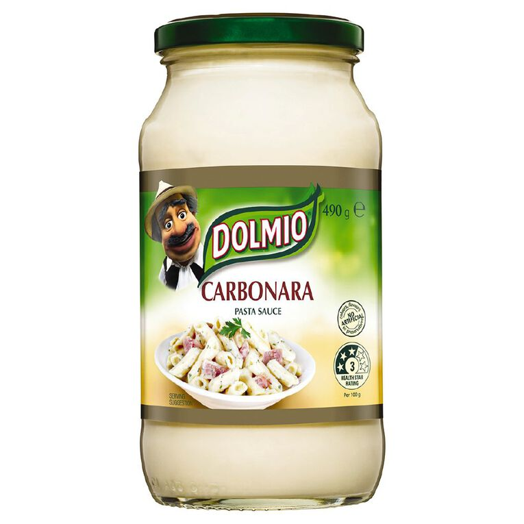 Dolmio Pasta Sauce Creamy Carbonara Jar 490g, , hi-res