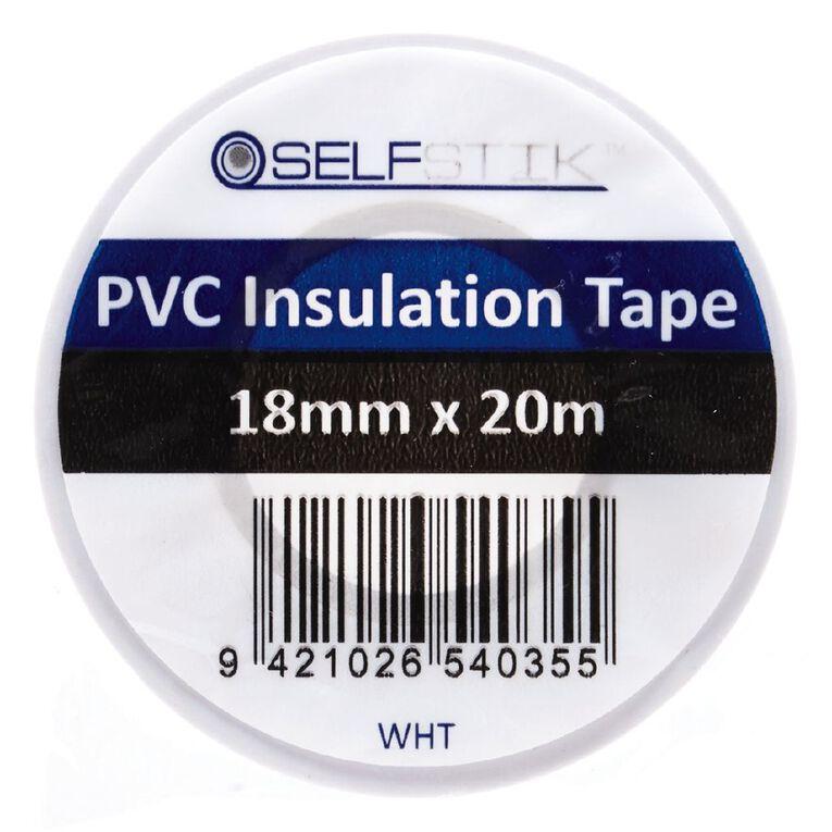 Pomona Insulation Tape PVC 18mm x 20m White, , hi-res
