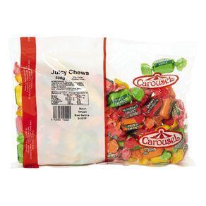 Carousel Fruit Flavourd Juicy Chews 500g