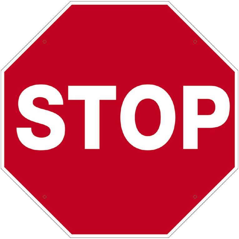 WS Stop Sign Large 600mm x 600mm, , hi-res