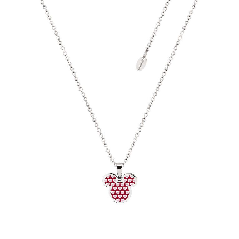 Disney Mickey Mouse Heart Necklace, , hi-res