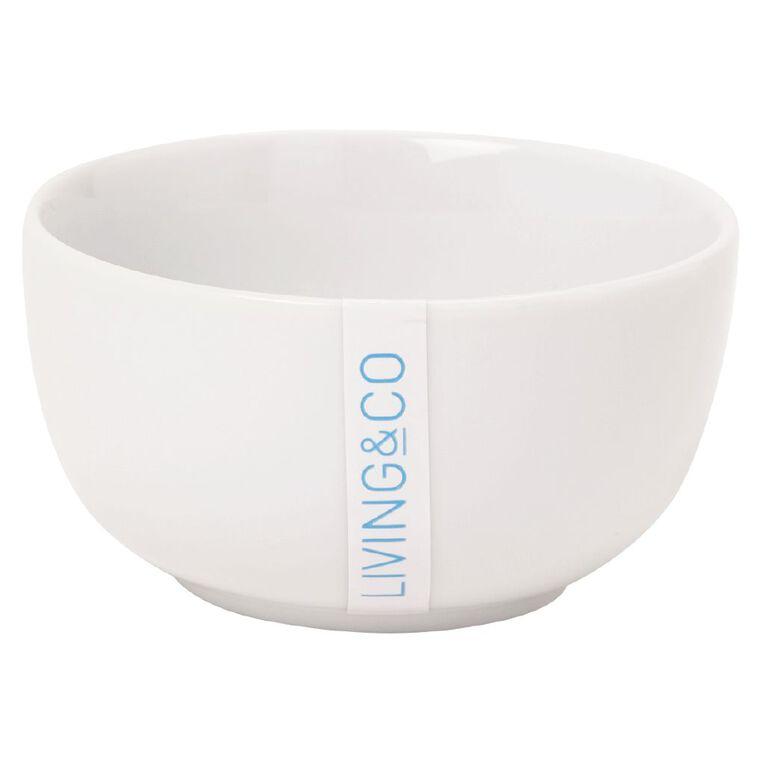 Living & Co Bowl Round Small White 9cm, , hi-res