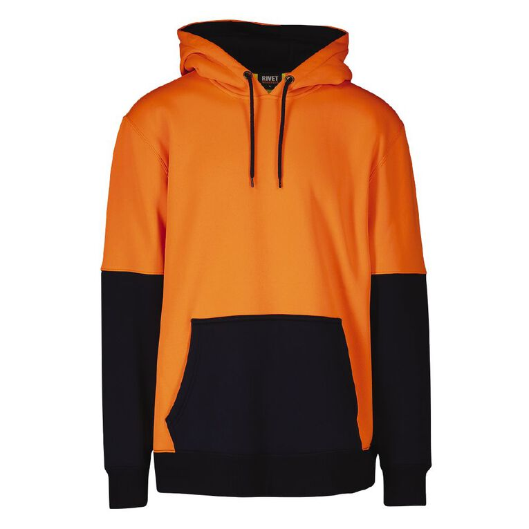 Rivet High Visibility Day Compliant Pullover Hooded Sweatshirt, Orange, hi-res