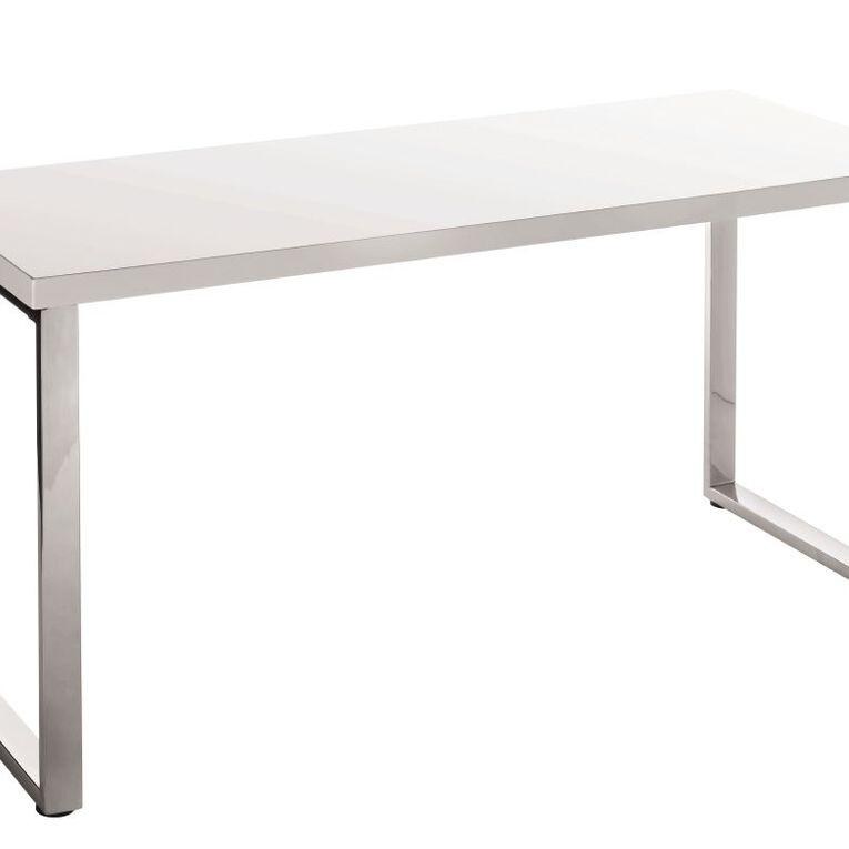 Jasper J Loop Desk Gloss White, , hi-res