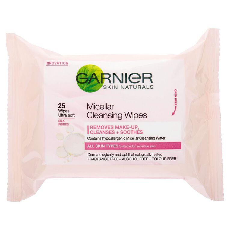 Garnier Micellar Wipes 25 Pack, , hi-res
