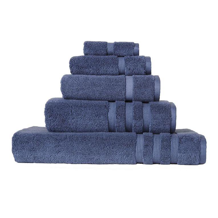 Living & Co Montreal Bath Towel Blue 137cm x 68cm, Blue, hi-res
