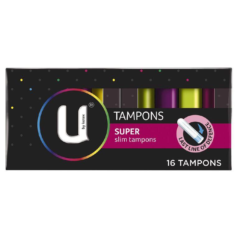 U By Kotex Tampons Super 16 Pack, , hi-res