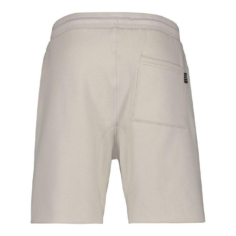 Garage Men's Elastic Waist Raw Hem Knit Shorts, Grey Light, hi-res