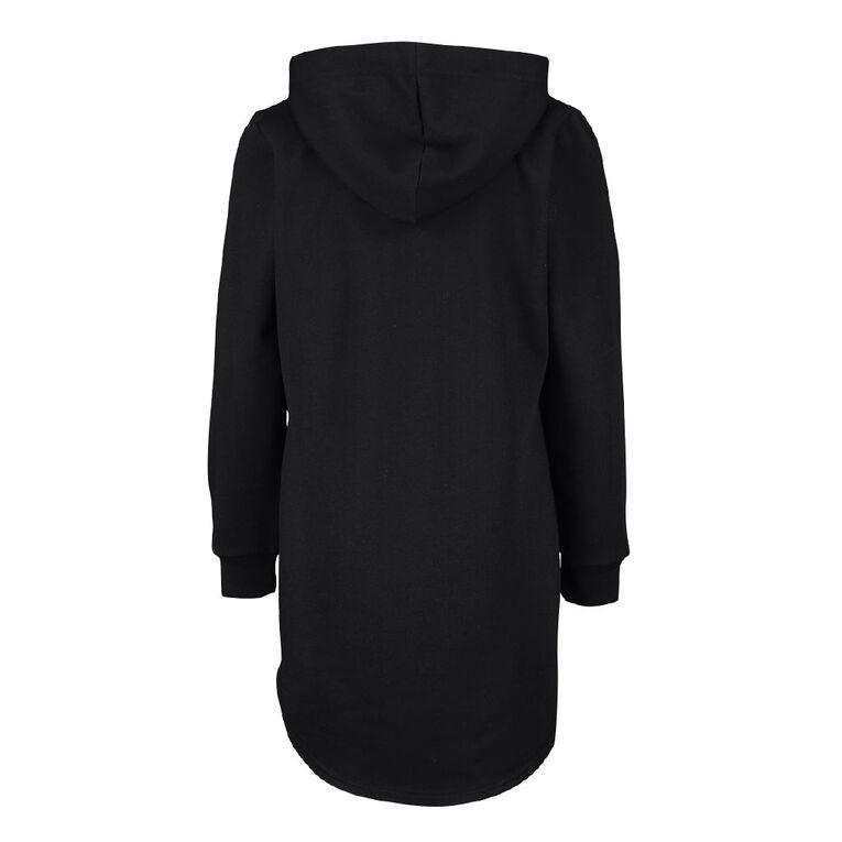 Young Original Hoodie Dress, Black WOLF, hi-res