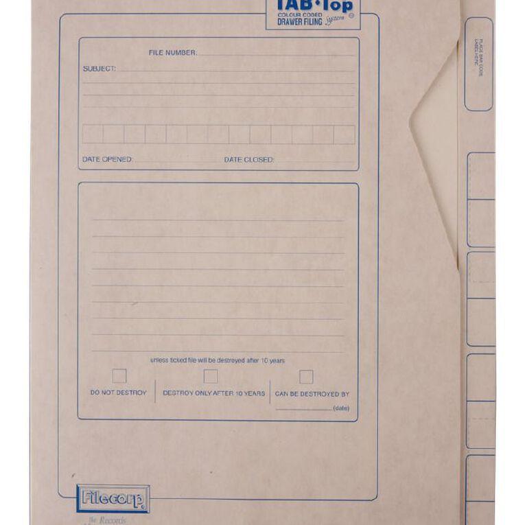 Filecorp Tab-Top Envelope File 2503 Foolscap Brown, , hi-res