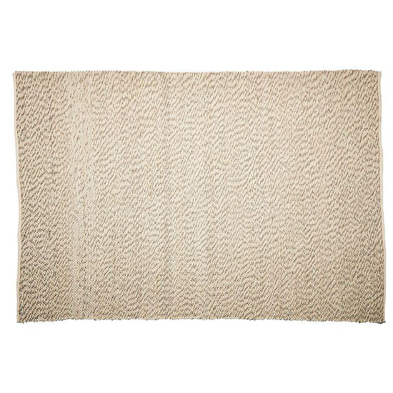 Living & Co Wool Pile Pebble Oversize Area Rug Natural 200cm x 300cm, Natural, hi-res