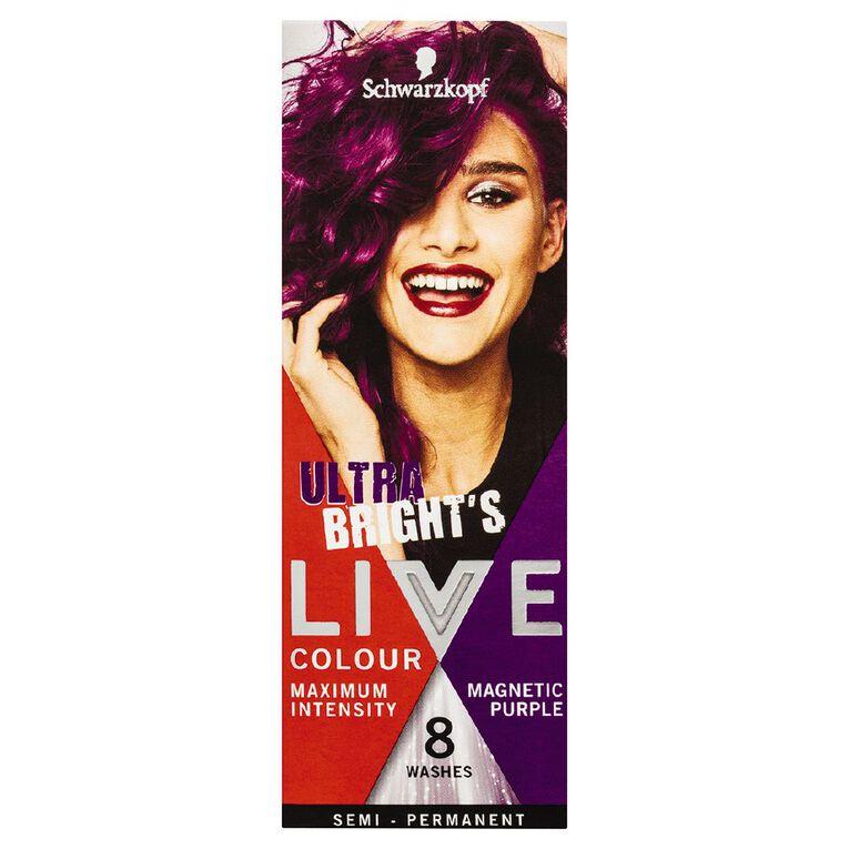 Schwarzkopf LIVE Colour Ultra Brights Magnetic Purple, , hi-res