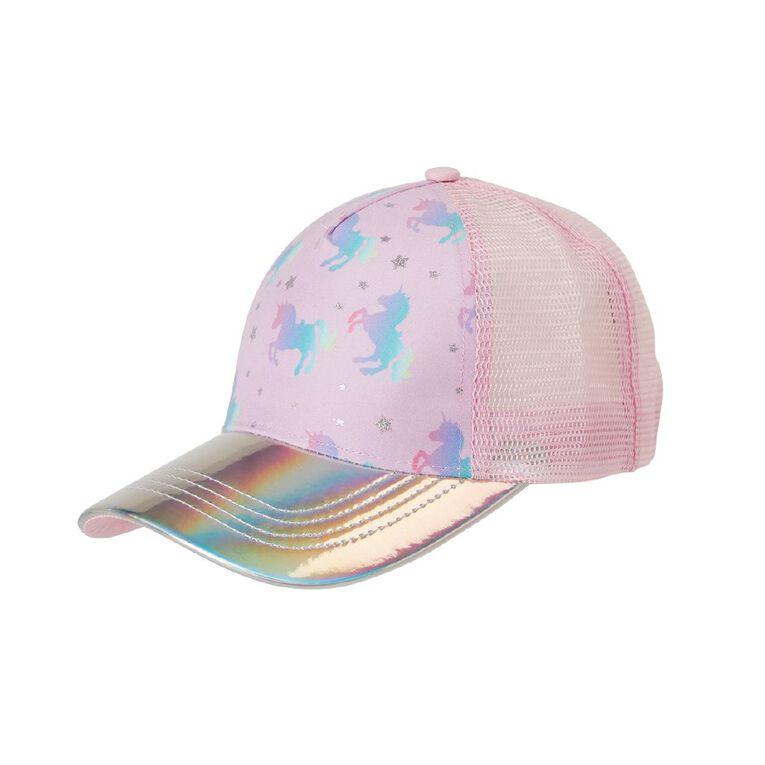 Young Original Kids Unicorn Glitter Cap, Pink, hi-res
