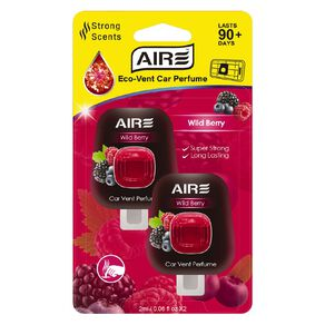 Aromate Air Eco Vent Mount Diffuser Car Air Freshener Berry Scent 2 Pack