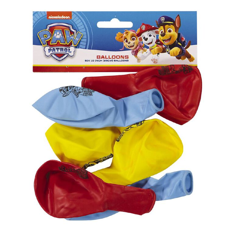 Paw Patrol Latex Balloons 6 Pack, , hi-res