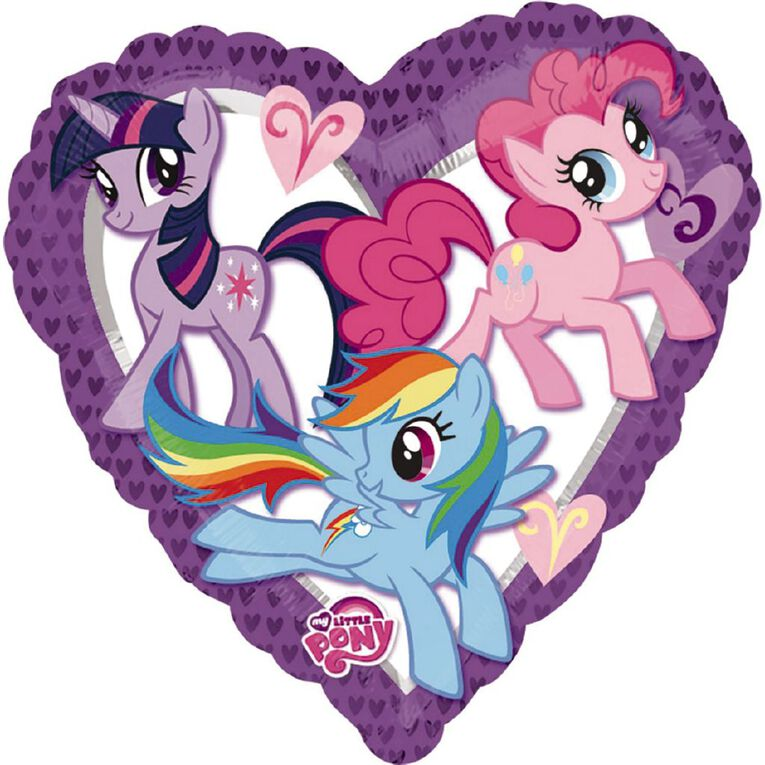 My Little Pony Heart Foil Balloon Standard 17in, , hi-res