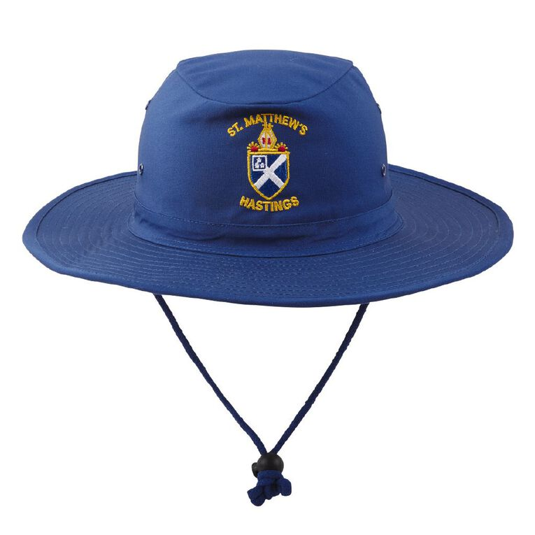 Schooltex St Matthew's Hastings Hat with Embroidery, Royal, hi-res