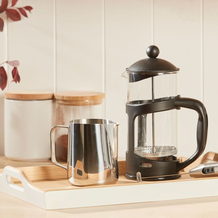 Living & Co Essentials Plastic Plunger Black 1L, , hi-res