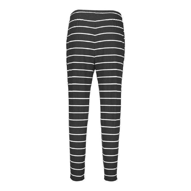 H&H Women's Stretch Harem Pants, Black/White, hi-res