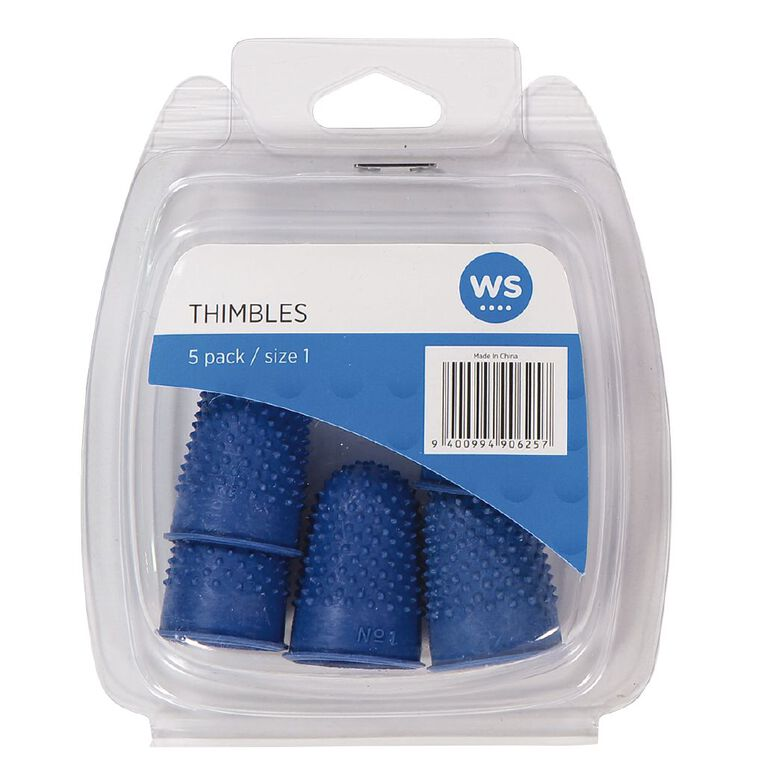 Impact Thimbles Size 1 Each 5 Pack, , hi-res